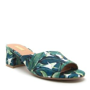 🌿 Green & White island print must have mule 🌿
